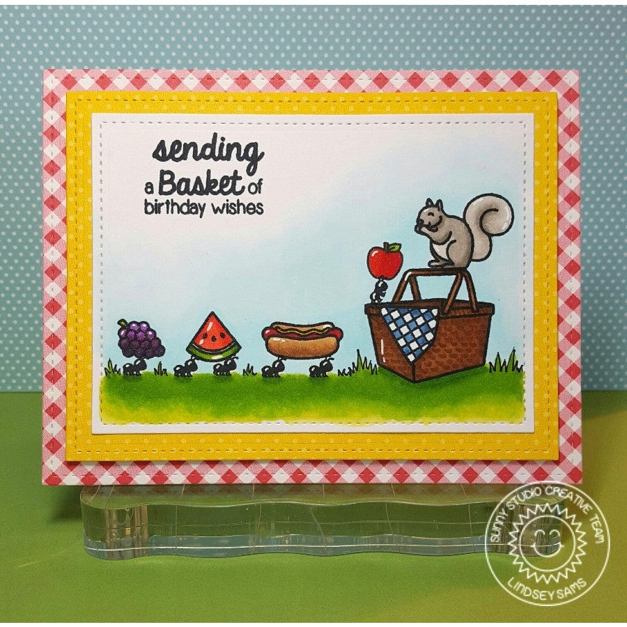 Sunny Studio Stamps Summer Picnic Basket Card