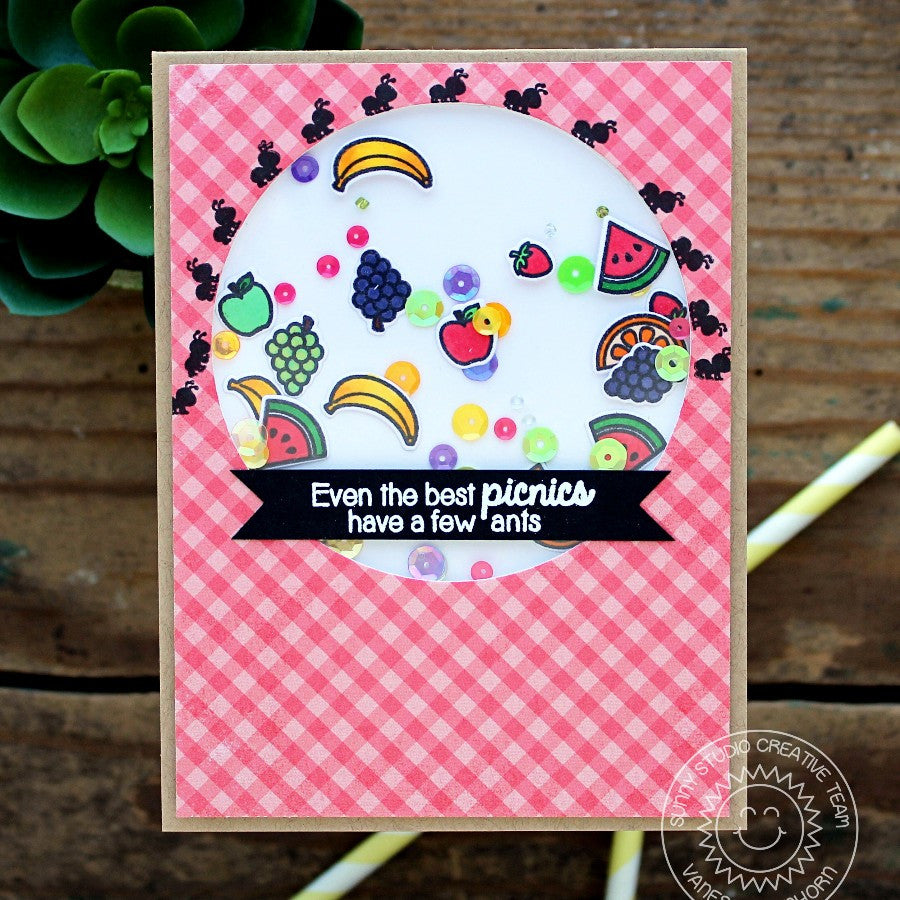 Sunny Studio Stamps Summer Picnic Shaker Card