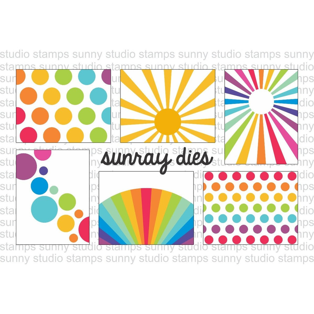 Sunny Studio Sun Ray Sunburst Dies Card Sketches