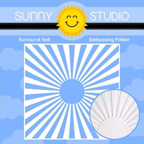 Sunny Studio Stamps Sunburst Sun Ray 6x6 Embossing Folder