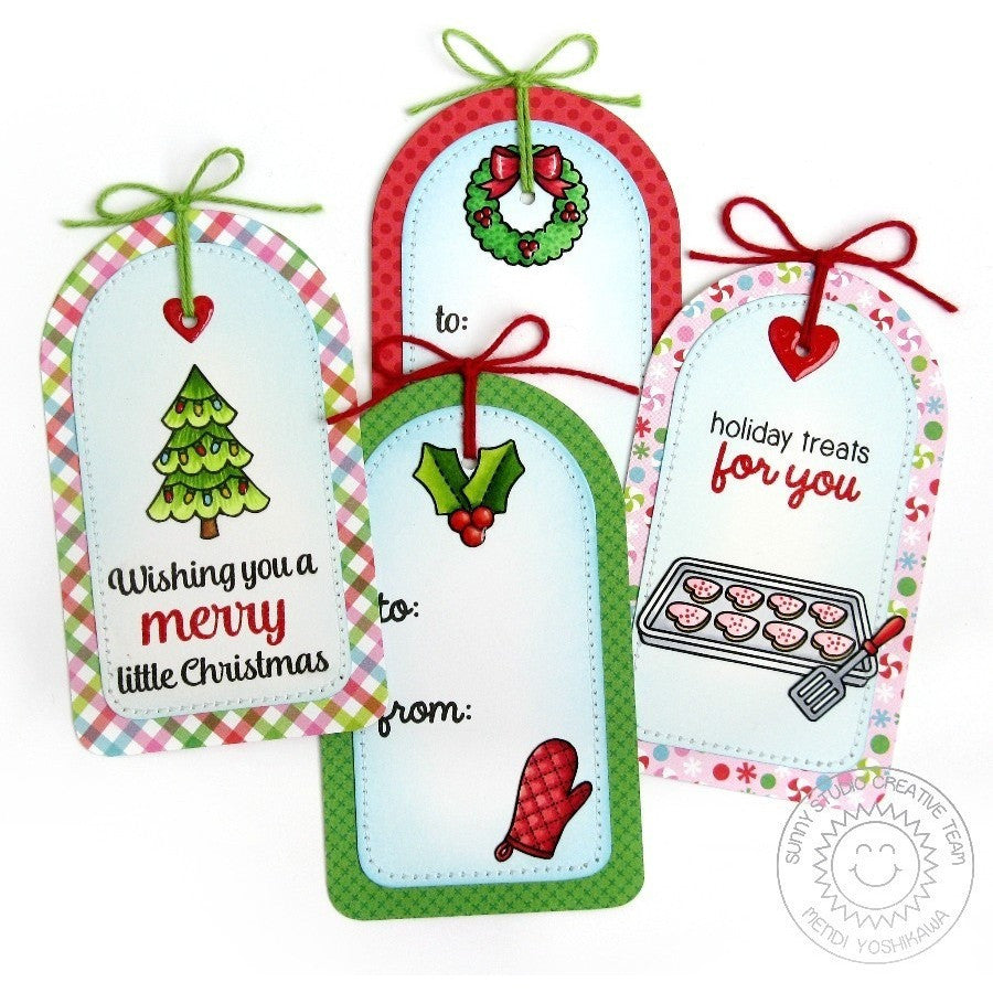 Sunny Studio Stamps Blissful Baking Christmas Cookies Gift Tags