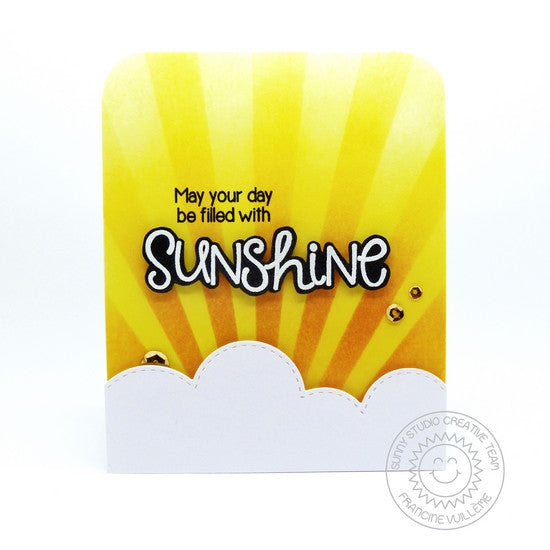 Sunny Studio Stamps Sunny Sentiments Hope Your Day Is Filled With Sunshine Sun Ray Card