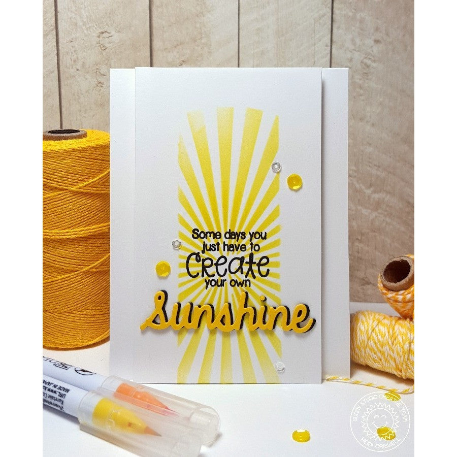 Sunny Studio Stamps Sunny Sentiments Create Sunshine Sunburst Card