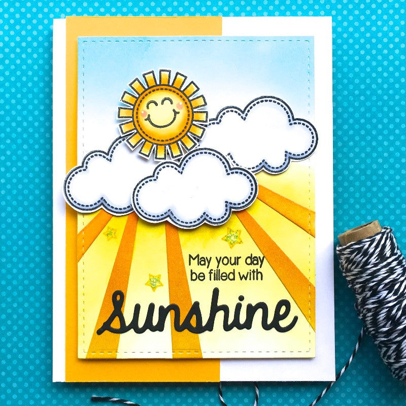 Sunny Studio Stamps Sun Ray Dies May Your Day be Filled With Sunshine Card