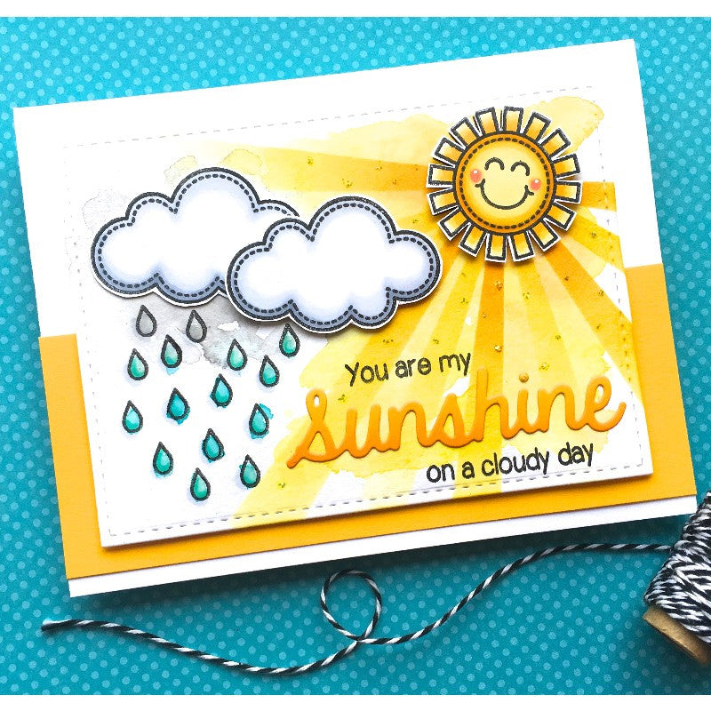 Sunny Studio Stamps Sun Ray Dies You Are My Sunshine On A Cloudy Day Card