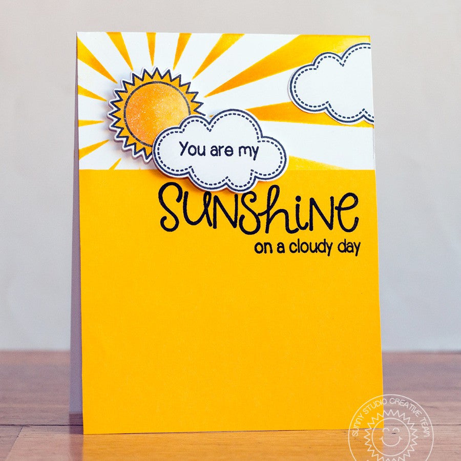 Sunny Studio Stamps Sunny Sentiments You Are My Sunshine On A Cloudy Day Card