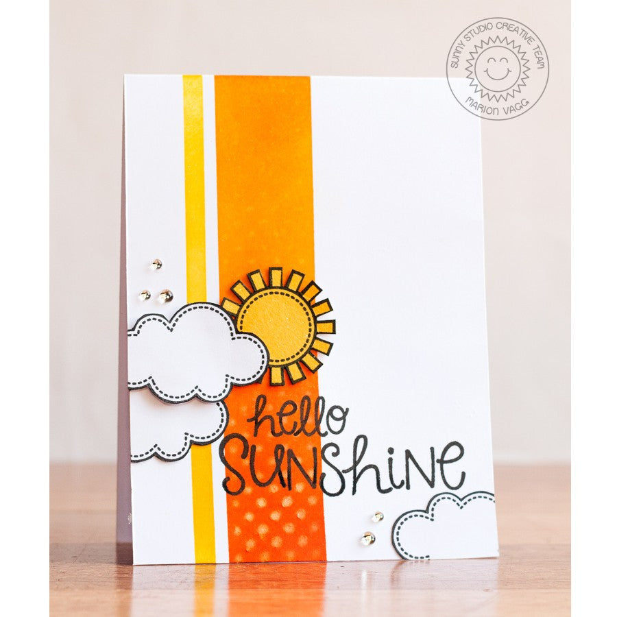 Sunny Studio Stamps Sunny Sentiments Hello Sunshine Card