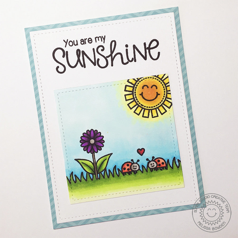 Sunny Studio Stamps Sunny Sentiments You Are My Sunshine Sun Card