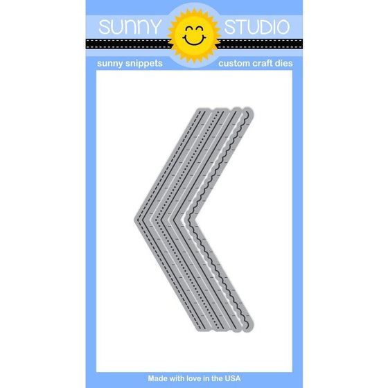 Sunny Studio Stamps Original Fishtail Banner Die Set