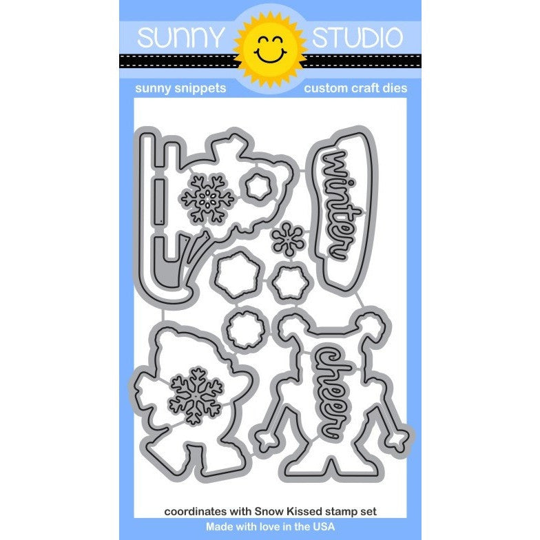 Sunny Studio Stamps Snow Kissed Penguins Craft Die Set