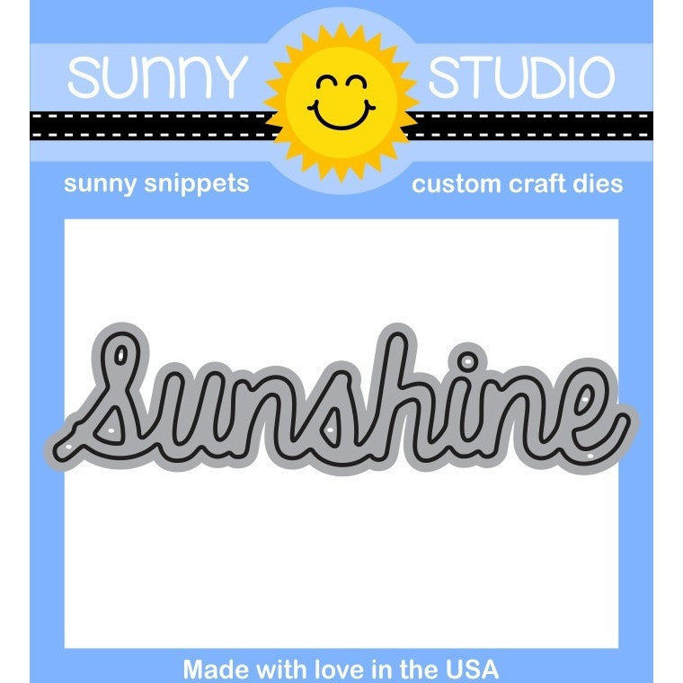 "Sunny Studio Stamps 3"" Sunshine Word Die"