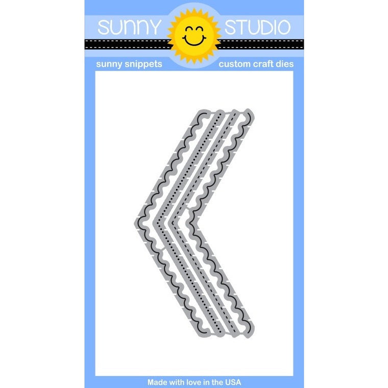 Sunny Studio Stamps Fishtail Banner II Die Set