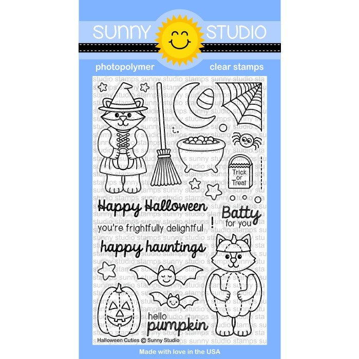 Sunny Studio Stamps Halloween Cuties 4x6 Photo-Polymer Clear Stamp Set