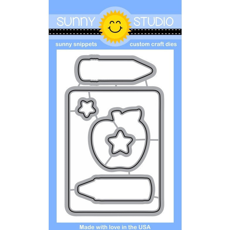 Sunny Studio Stamps School Time Die Set