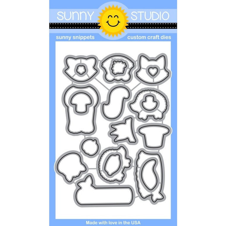 Sunny Studio Stamps Woodsy Creatures Die Set