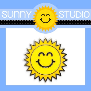 Sunny Studio Stamps Sunshine Logo Collectible Collector Hard Enamel Pin with Rubber Back