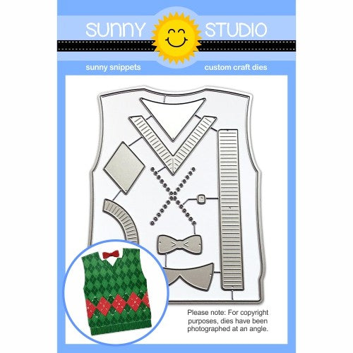 Sunny Studio Stamps Sweater Vest Low Profile Metal Cutting Die Set