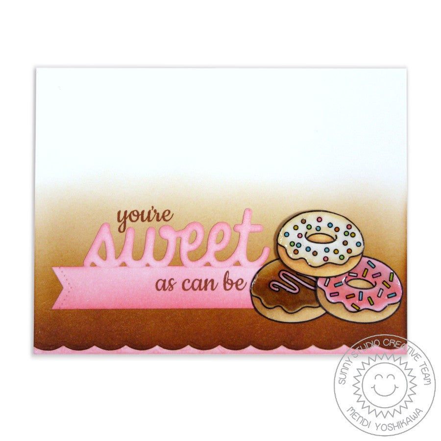 Sunny Studio Stamps Sweet Shoppe Sweet As Can Be Glazed Donuts Card