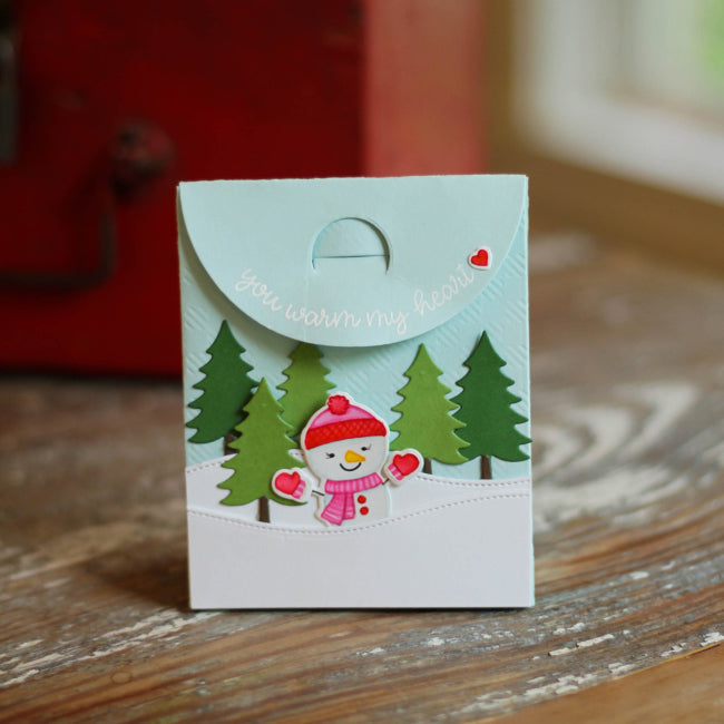 Sunny Studio Stamps Snowman Christmas Holiday Gift Bag (using Sweet Treats Metal Cutting Dies)
