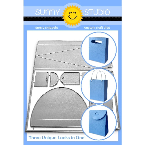 Sunny Studio Stamps 3-in-1 Sweet Treats Gift Box Bag Metal Cutting Dies