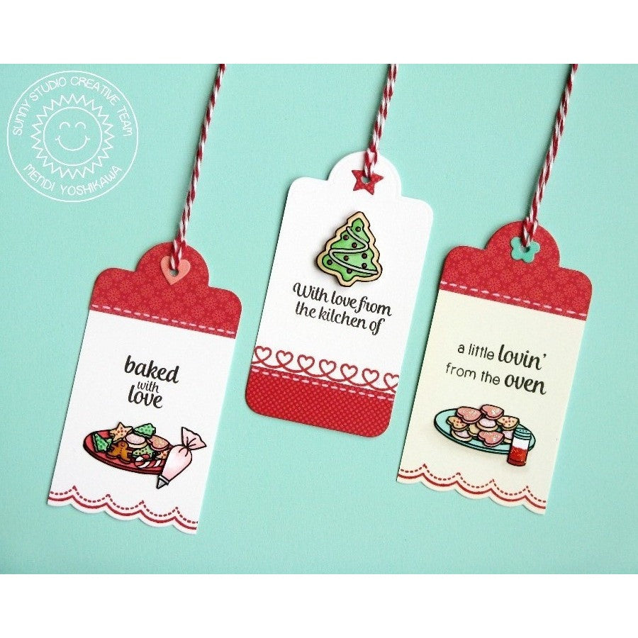 Sunny Studio Stamps Blissful Baking Holiday Cookies Gift Tags