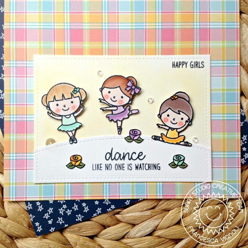 Sunny Studio Stamps Tiny Dancers Dance Like No On is Watching Card by Franci