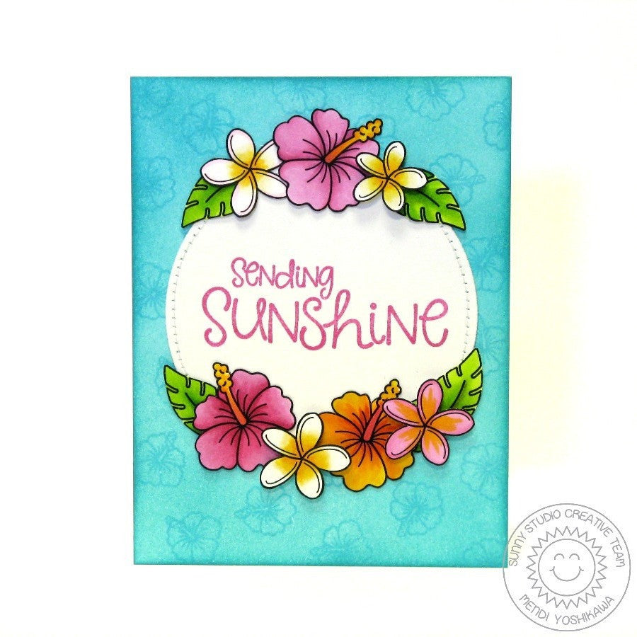 Sunny Studio Stamps Tropical Paradise Hibiscus Flower Card