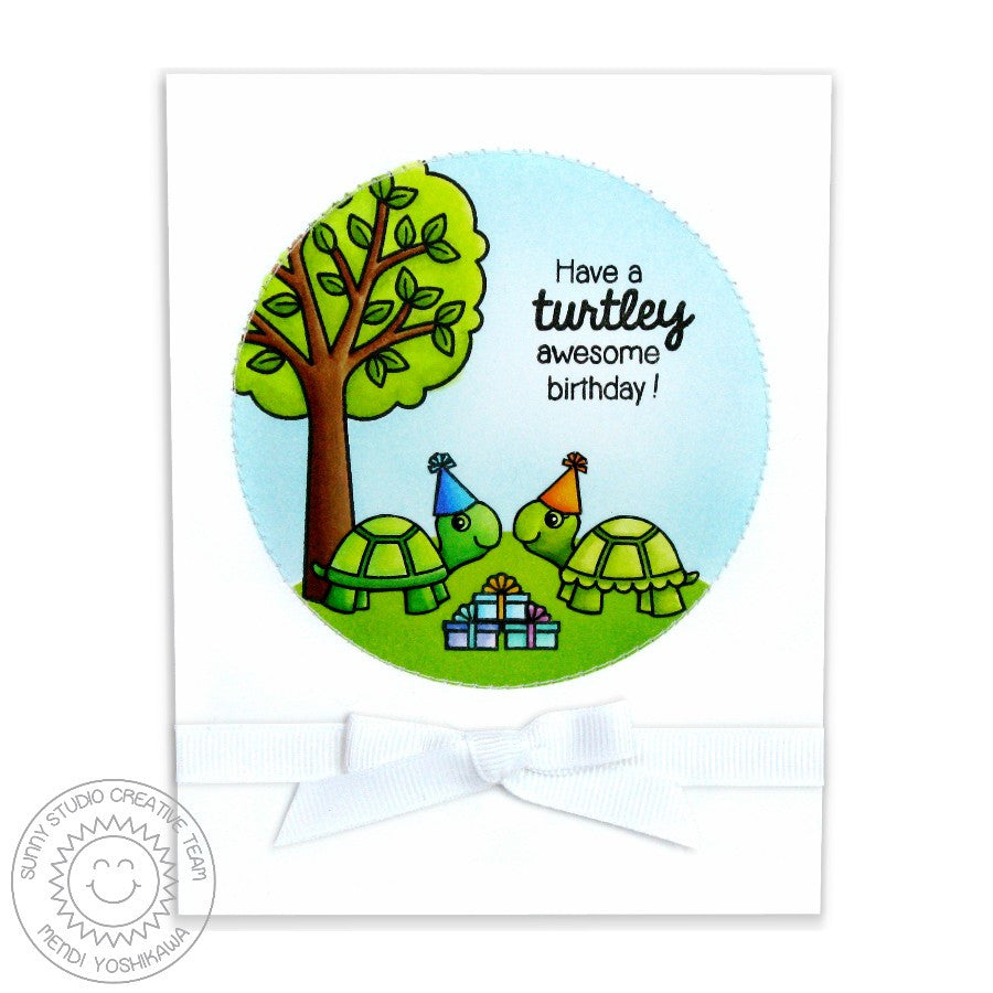 Sunny Studio Turtley Awesome Turtle Birthday Card