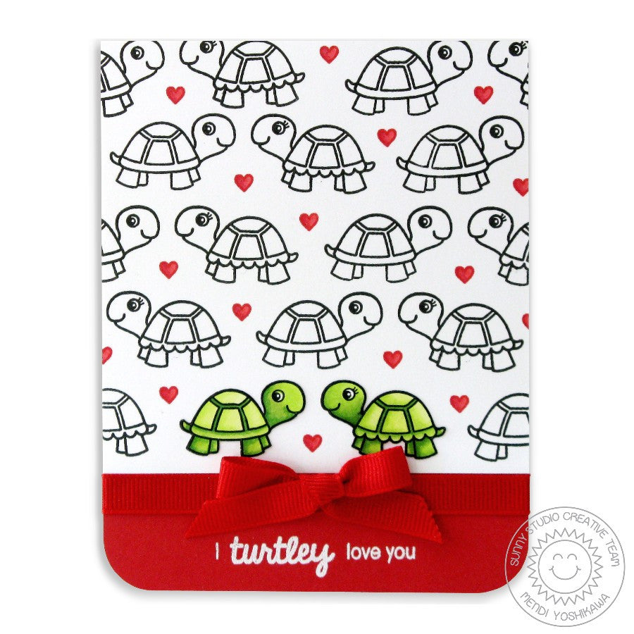 Sunny Studio Turtley Awesome Love You Turtle Card
