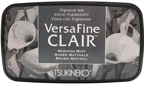 Tsukineko VersaFine Clair Morning Mist Gray Grey Pigment Ink Stamp Pad