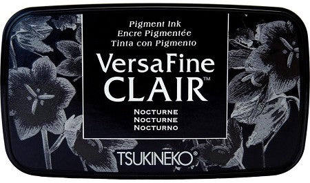Tsukineko VersaFine Clair Nocturne Black Pigment Ink Stamp Pad