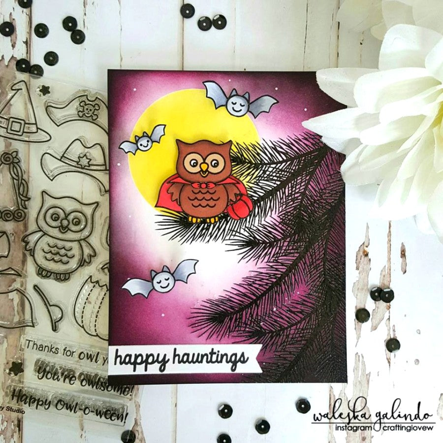 Sunny Studio Stamps Vampire Owl Happy Owl-o-ween Card by Waleska