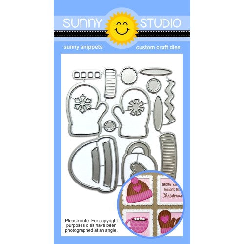 Sunny Studio Stamps Warm & Cozy Winter Hat, Mittens & Hot Cocoa Mug Metal Craft Die Set
