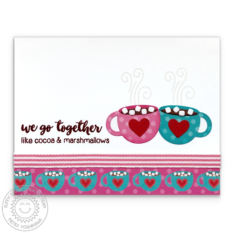 Sunny Studio Stamp Warm & Cozy We Go Together Like Cocoa & Marshmallows Card
