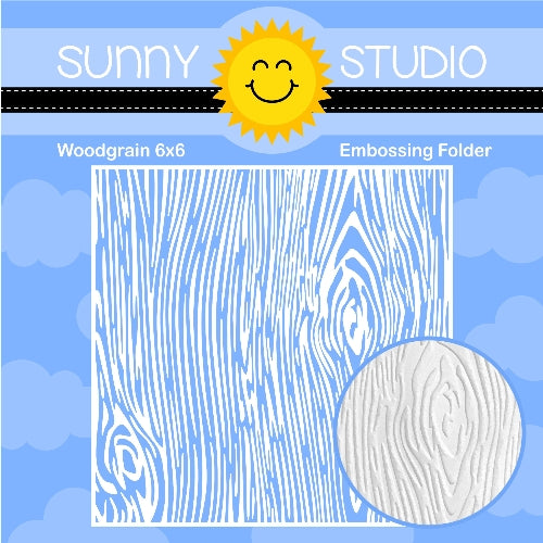 Sunny Studio Stamps Woodgrain Wood Texture 6x6 Embossing Folder for Embossed Cards