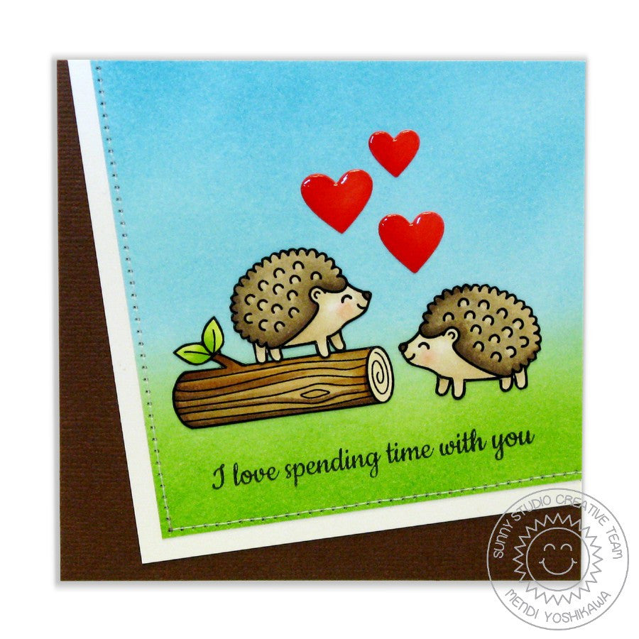 Sunny Studio Stamps Woodsy Creatures Hedgehog Card
