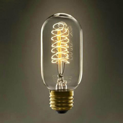 Vintage Edison Bulb - T45 220V E27 - Incandescent - 40W Filament - Retro Edison Light