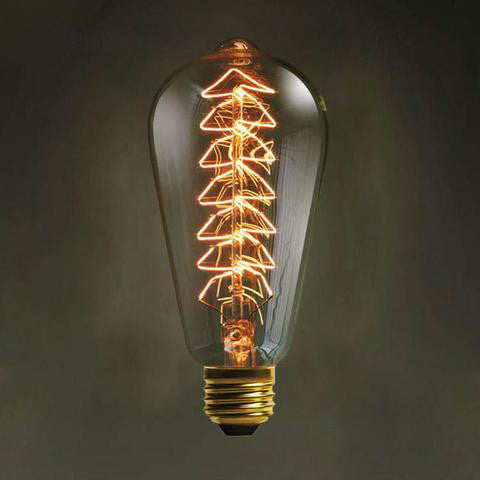 Vintage Edison Bulbs - E27 220V 110V -  Tree Bulb - 40W ST64 - Filament - Retro Edison Light