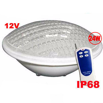 LED Swimming Pool Light  - 24W - RGB - PAR56 - 12V - IP68 - 351 LEDs
