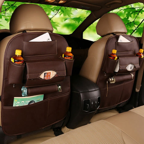 High Quality Leather Car Back Seat - Storage Bag -  Creative Storage Box