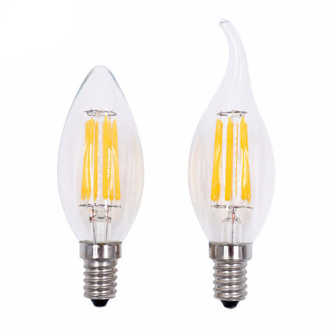LED Filament Bulb - 220V - COB Bulb - E27 E14 A60 G45 C35 - Candle Light - 2W 4W 6W 8W