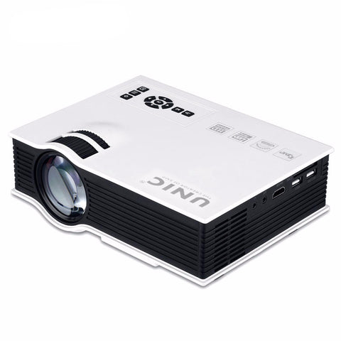 Unic UC40+ Projector Mini Pico Portable - AV/USB/SD/HDMI Projector With Free HDMI Cable