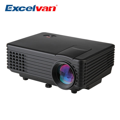 Excelvan  120 Lumens Mini LED Portable Beamer Projector - VGA/AV/USB/HDM/ATV