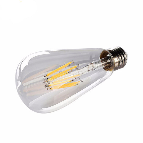 Retro LED Filament Bulb - Dimmable - ST64 E27 4W 8W 220V - No Flicker