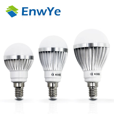 LED Lamp - Metallic-  E14 - 3W 5W 7W 9W 12W 15W - 220V - Real Watt LED Bulb