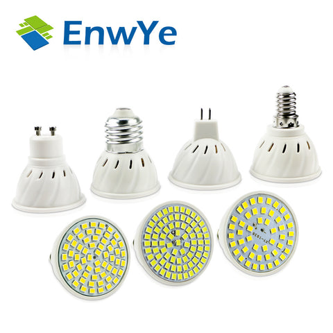 E27 E14 MR16  GU10 -LED Spotlight - 110V 220V - 48 60 80 LEDs