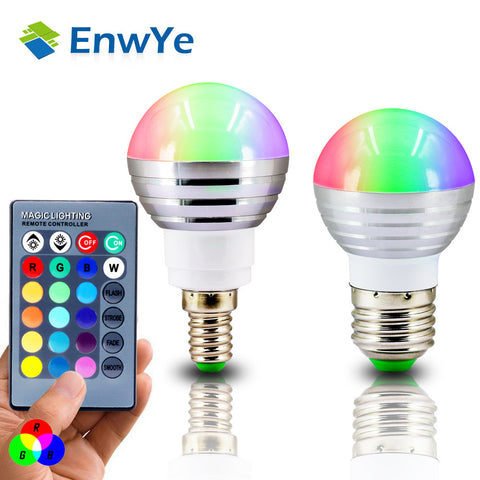 LED RGB Spot light dimmable + IR Remote Control - 16 colors