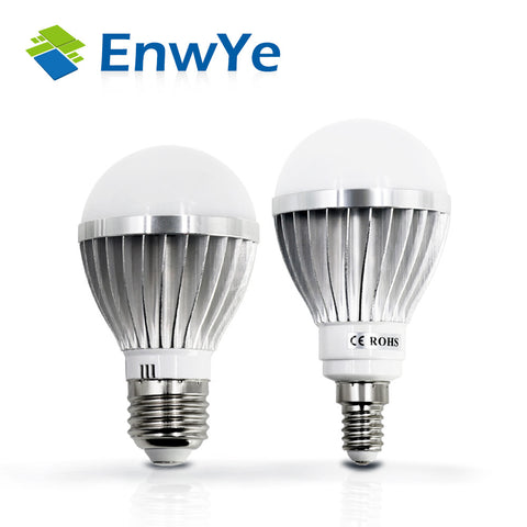 6x  LED lamp - E14 E27 - 3W 5W 7W 9W 12W 15W - 2835 LED Lights - Silver metal