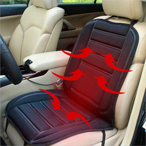 Car Seat Warmer - Carbon Fiber - Black