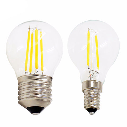 LED Filament Ball Bulb - E27 E14 220V - 2W 4W - Retro style
